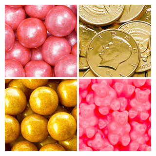 Pink and Gold Candy