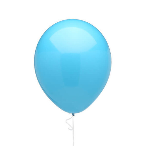 Solid Color 11 Inch Fashion Balloons Robin Egg Blue 5 Piece Set Candy Warehouse