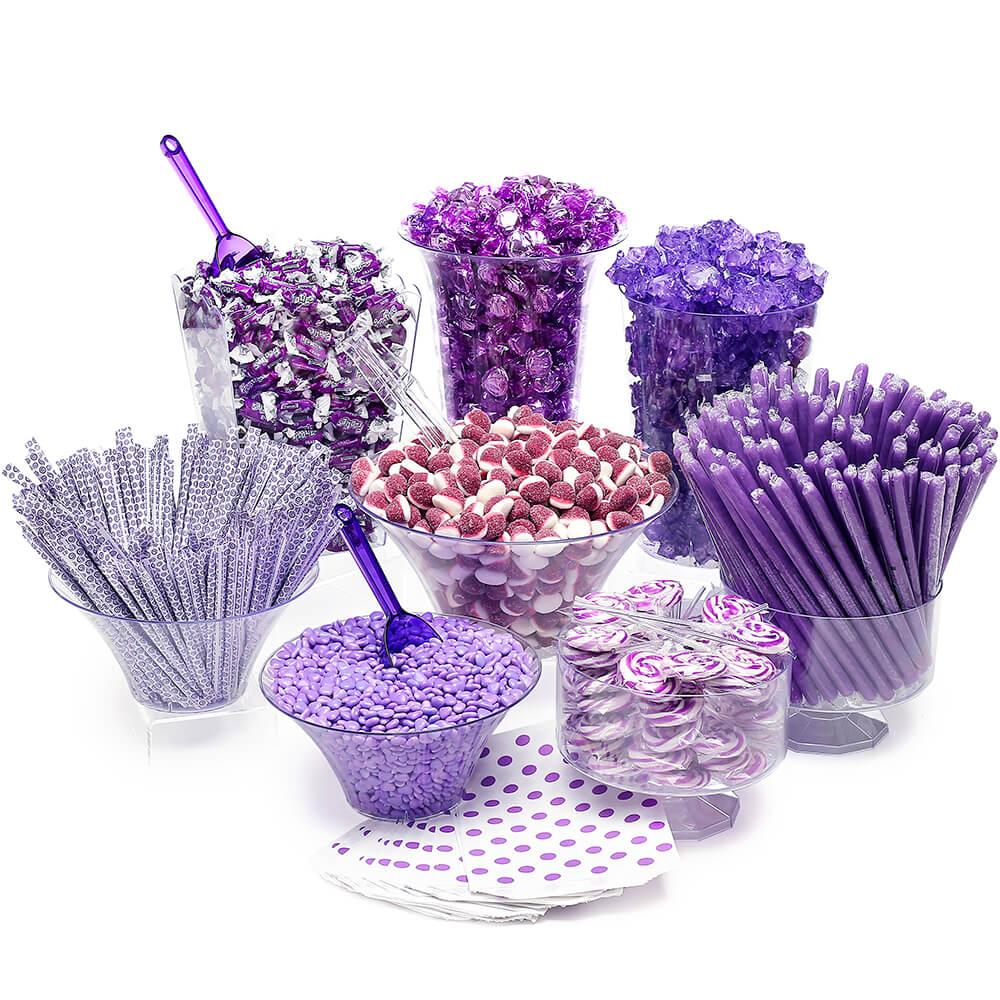 Candy Buffet Purple Plastic Candy Scoops x 3