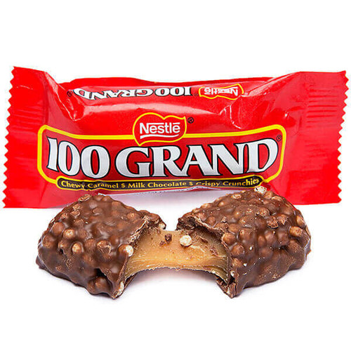 100 Grand Fun Size Candy Bars: 72-Piece Case | Candy Warehouse