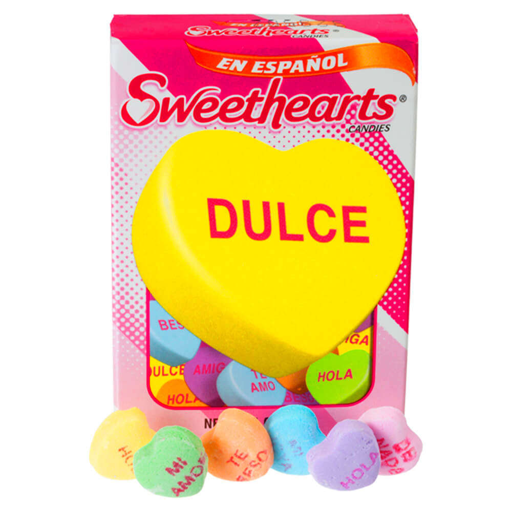 Spanish Candy Hearts Screen Print Transfer Ready To Press Valentine/'s Day Conversational Hearts