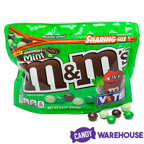 Crunchy Mint M M S Candy 8 Ounce Bag Candy Warehouse
