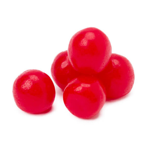 Chewy Sour Balls Cherry 5lb Bag Candy Warehouse