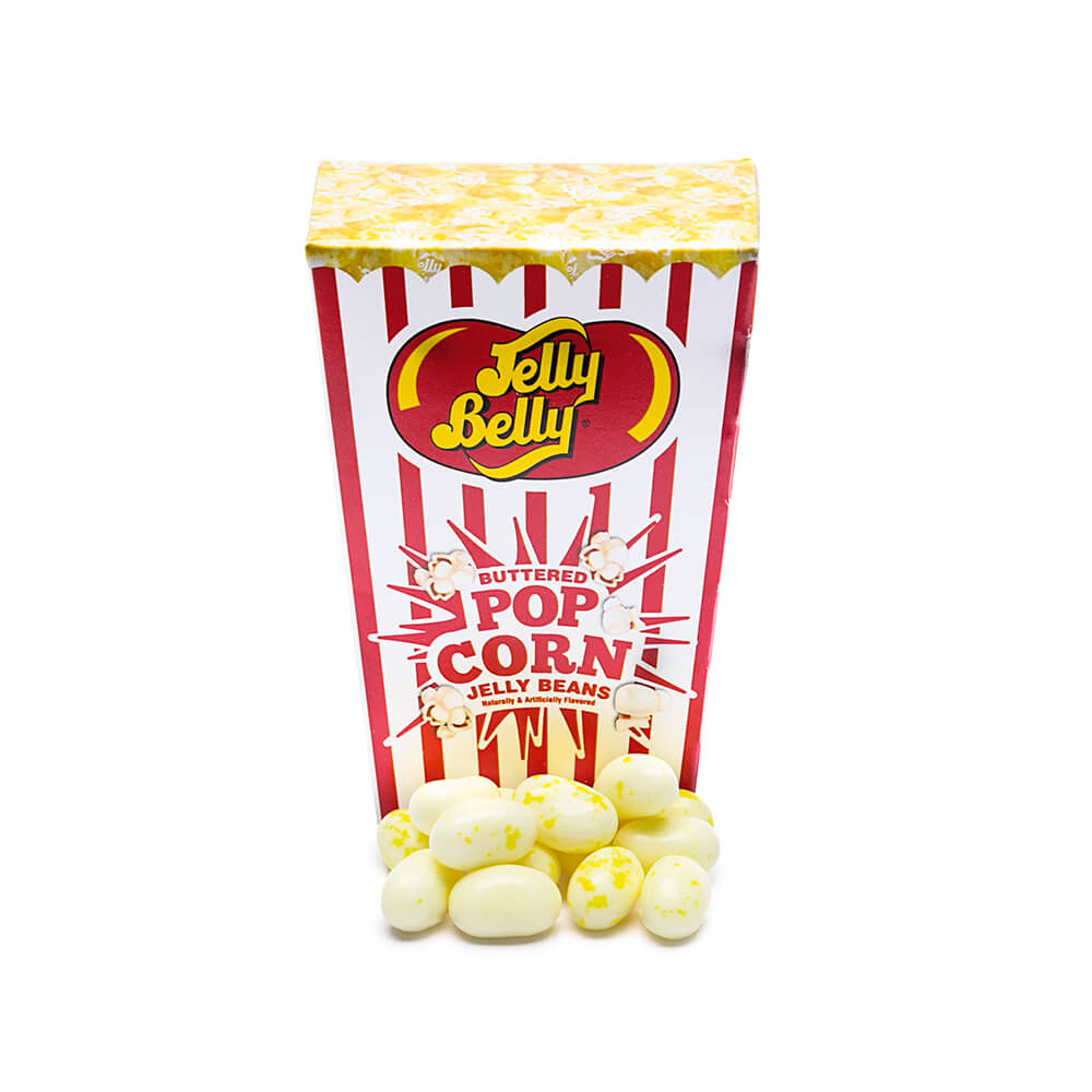Jelly Belly Buttered Popcorn Jelly Beans Boxes 24 Piece Display Candy Warehouse