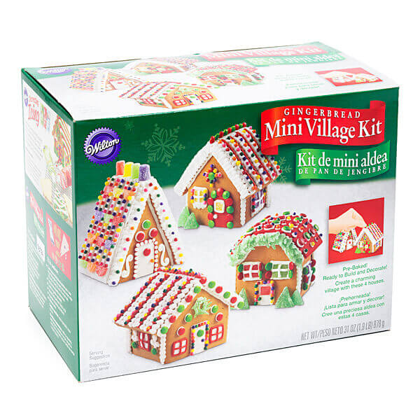 Mini Gingerbread House Village Kit | Candy Warehouse
